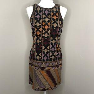 Vintage Free People Embroidered Mini Dress